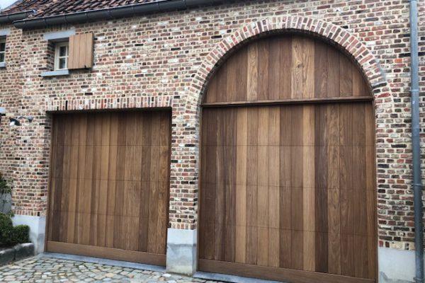 garagepoort pastorijstijl afromosia Sim Poorten